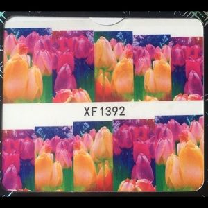 Other - NWT Nail Art Waterslide Tattoos in Bright Tulips